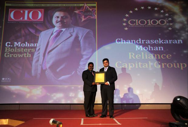 The Creative 100: Chandrasekaran Mohan, CTO of Reliance Capital receives the CIO100 Award for 2011