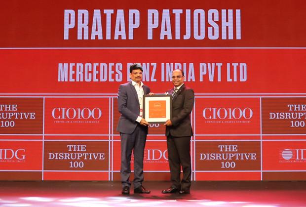 The Disruptive 100: Pratap Pat Joshi, CIO, Mercedes Benz India receives the CIO100 Award for 2019
