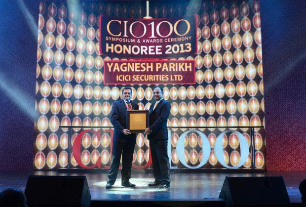 The Astute 100: Yagnesh Parikh, EVP and CTO at ICICI Securities receives the CIO100 Award for 2013