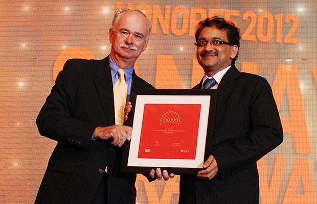 The Resilient 100: Sanjay Saraswat, CIO of Reliance Globalcom receives the CIO100 Award for 2012