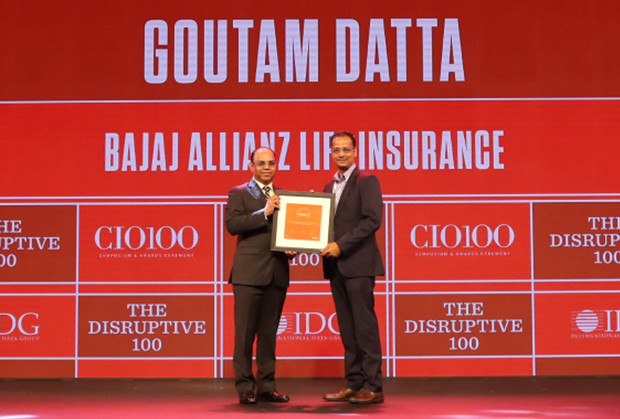 The Disruptive 100: Goutam Datta, Chief Information & Digital Officer, Bajaj Allianz Life Insurance receives the CIO100 Award for 2019