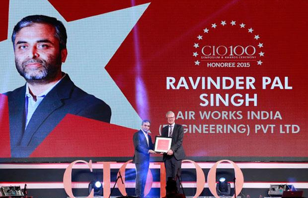 The Versatile 100: Ravinder Pal Singh Global CIO at Air Works India Engineering receives the CIO100 Award for 2015