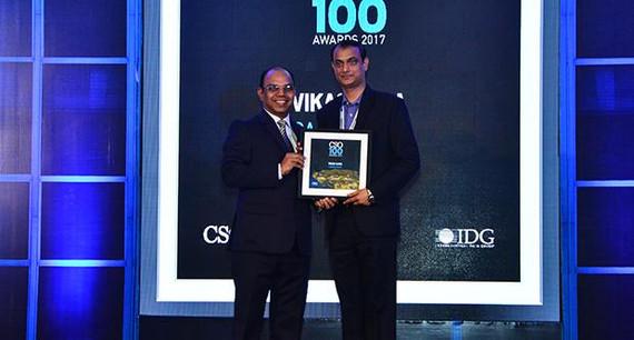Vikas Ojha, CISO & Senior Manager Infrastructure, Canon India receives the CSO100 Award for 2017.