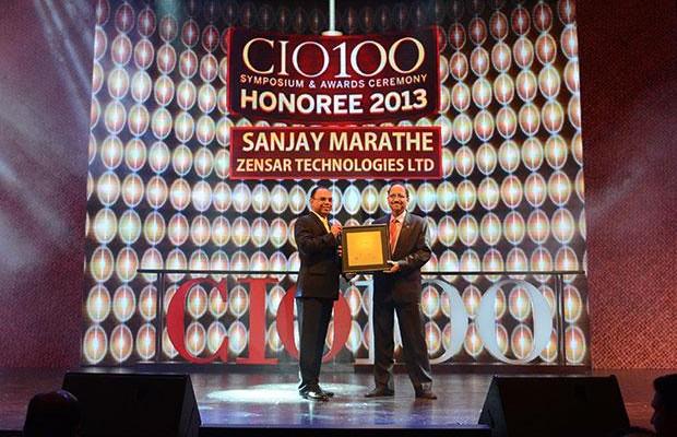 The Astute 100: Sanjay Marathe EVP, CTO & HEAD - Strategic Services Unit of Zensar Technologies receives the CIO100 Award for 2013