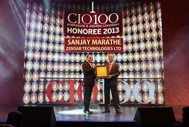 The Astute 100: Sanjay Marathe EVP, CTO & HEAD - Strategic Services Unit of Zensar Technologies receives the CIO100 Award for 2013