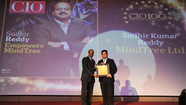 The Creative 100: Sudhir Kumar Reddy, VP & CIO, Mindtree receives the CIO100 Award for 2011