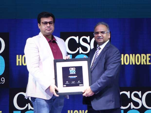 Anindya Ghosh, General Manager, Glenmark receives the CSO100 Awards for 2019