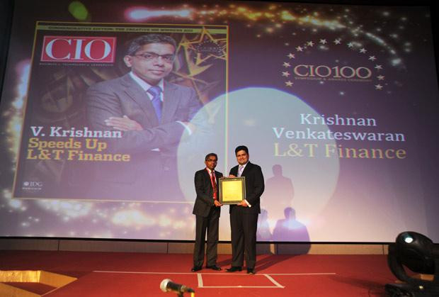 The Creative 100: Krishnan Vekateswaran, CIO of L&T Finance receives CIO100 Award for 2011
