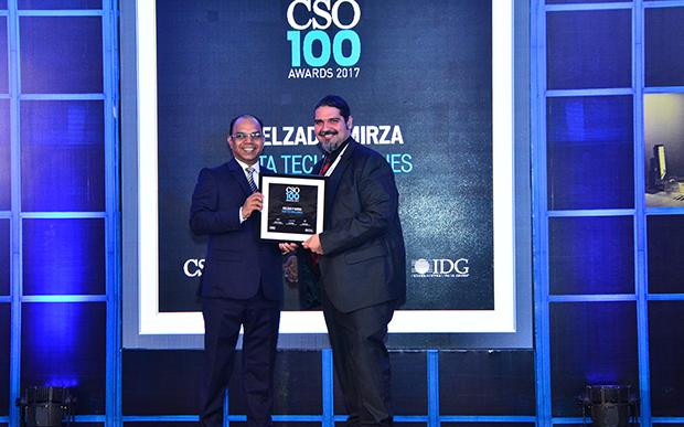 Delzad Mirza, Chief Information Security Officer, Tata Technologies receives the CSO100 Award for 2017.