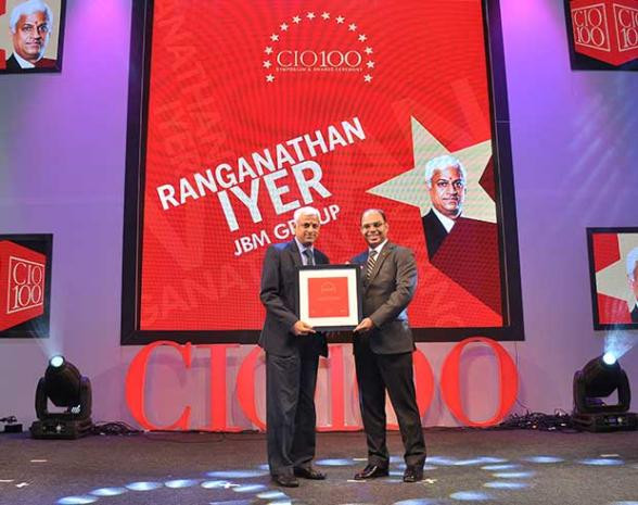 The Transformative 100: V Ranganathan Iyer, Group CIO, JBM Group receives the CIO100 Award for 2016