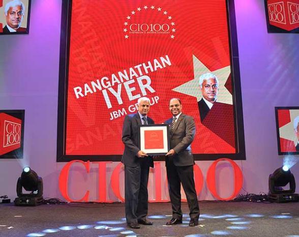 The Transformative 100: V Ranganathan Iyer, Group CIO, JBM Group receives the CIO100 Award for 2016