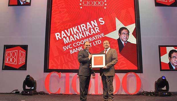 The Transformative 100: Ravikiran S Mankikar, Chief GM-IT of The Shamrao Vithal Co-operative Bank receives the CIO100 Award for 2016