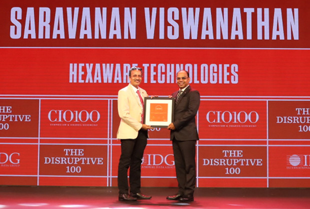 The Disruptive 100: Saravanan Viswanathan, Head – Internal Systems & Technology, Hexaware Technologies receives the CIO100 Award for 2019
