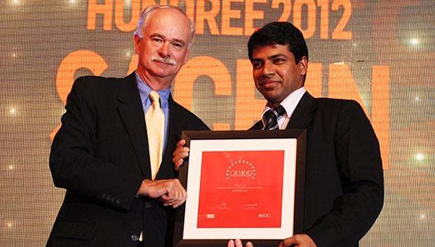 The Resilient 100: Sachin Jain, CIO & CSO, Evalueserve receives the CIO100 Award for 2012