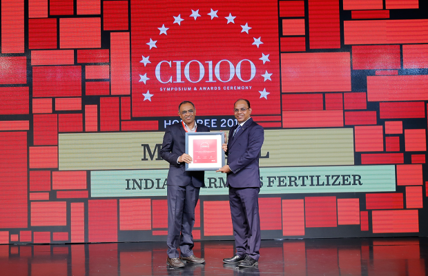 The Digital Architect: M R Patel, Director– IT Services	at Indian Farmers Fertilizer Cooperative receives the CIO100 Award for 2018