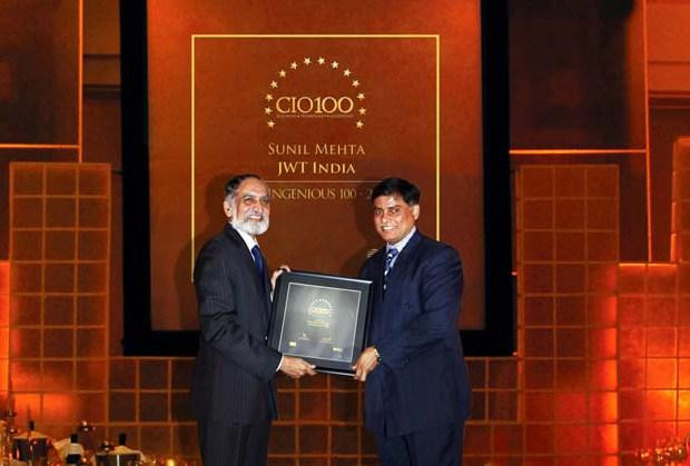 The Ingenious 100: Sunil Mehta, Sr. VP - Area Systems Director (Central Asia), JWT India receives CIO100 Award for 2009