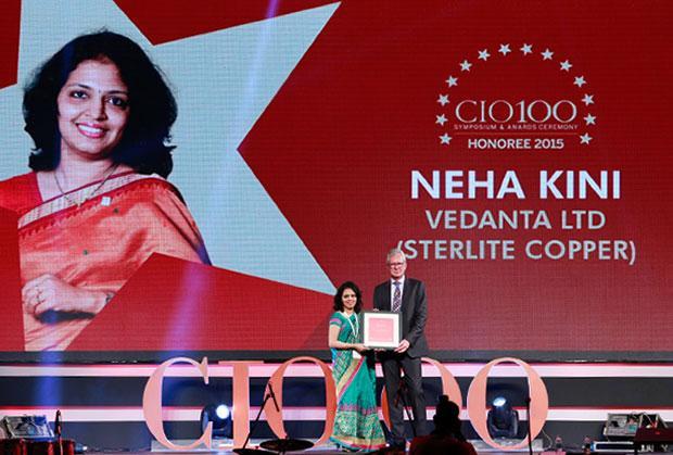 The Versatile 100: Neha Kini, Head-IT of Vedanta Sterlite Copper receives the CIO100 Award for 2015