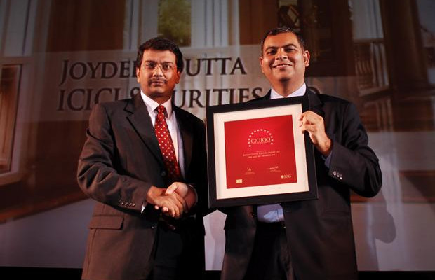 The Agile 100: Joydeep Dutta, CTO at ICICI Securities receives the CIO100 Award for 2010