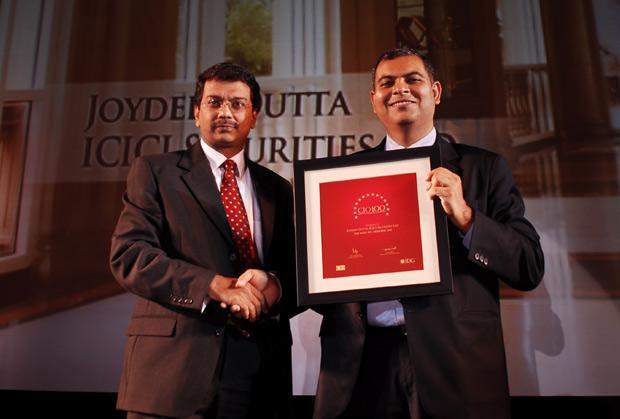 The Agile 100: Joydeep Dutta, CTO at ICICI Securities receives the CIO100 Award for 2010