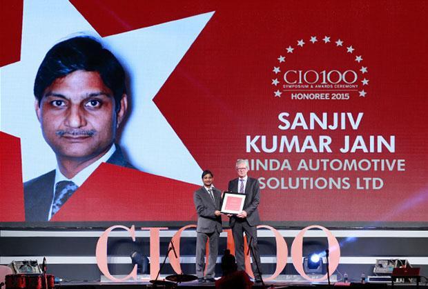 The Versatile 100: Sanjiv Kumar Jain, Group CIO of Minda Automotive Solutions receives the CIO100 Award for 2015