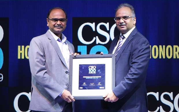 Srinivas Rao Kottamasu, Sr. Vice President - Global Delivery Head, Infrastructure Management Services at Mindtree receives the CSO100 Award for 2019