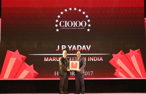 The Digital Innovators: J P Yadav, SVP-IT at Maruti Suzuki India receives the CIO100 Award for 2017