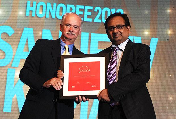 The Resilient 100: Sanjeev Kumar, Group CIO and Group President-Business Excell of Adhunik Group of Industries receives the CIO100 Award for 2012