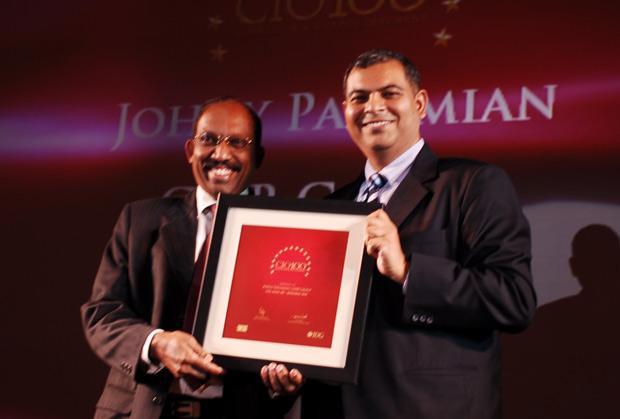 The Agile 100: Johny Paramian, Group CIO of GMR Group receives the CIO100 Award for 2010