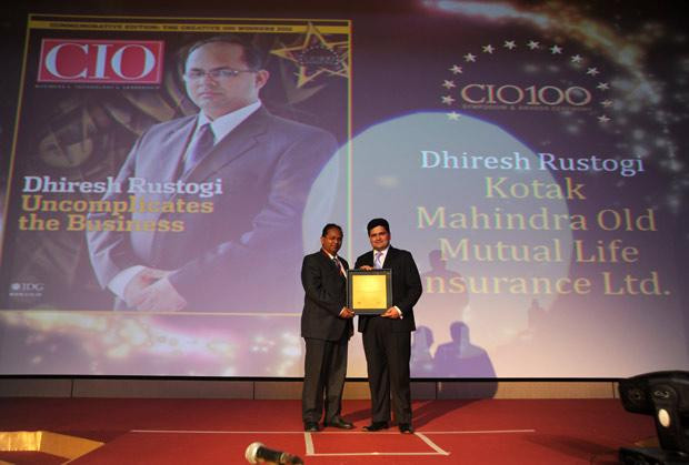 The Creative 100: Dhiresh Rustogi, Head-IT, Kotak Life Insurance receives CIO100 Award for 2011