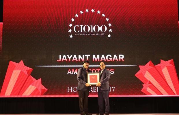 The Digital Innovators: Jayant Magar, VP-IT and Group CIO of AMW Motors receives the CIO100 Award for 2017