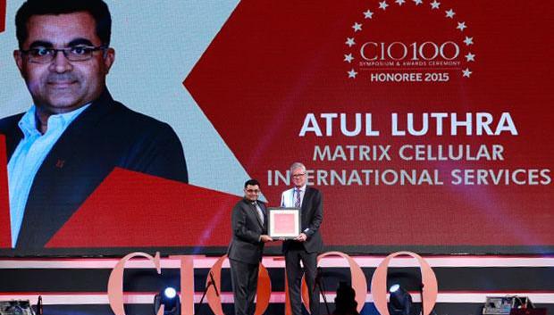 The Versatile 100: Atul Luthra, Vice President - IT of Matrix Cellular International receives the CIO100 Award for 2015