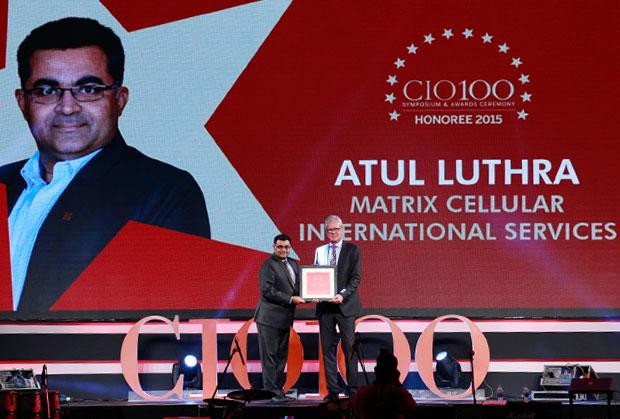 The Versatile 100: Atul Luthra, Vice President - IT of Matrix Cellular International receives the CIO100 Award for 2015