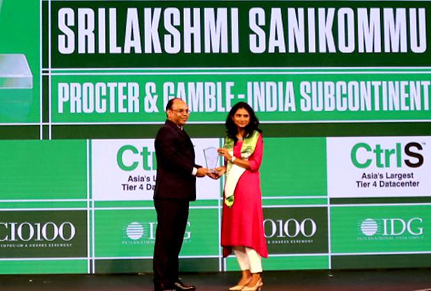 Business Transformer: Srilakshmi Sanikommu, IT Head, Procter & Gamble India receives the CIO100 Special Award for 2019