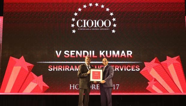 The Digital Innovators: V Sendil Kumar, VP-IT of Shriram Value Services receives the CIO100 Award for 2017