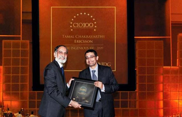 The Ingenious 100: Tamal Chakravorty, Director-IT, Ericsson India receives the CIO100 Award for 2009