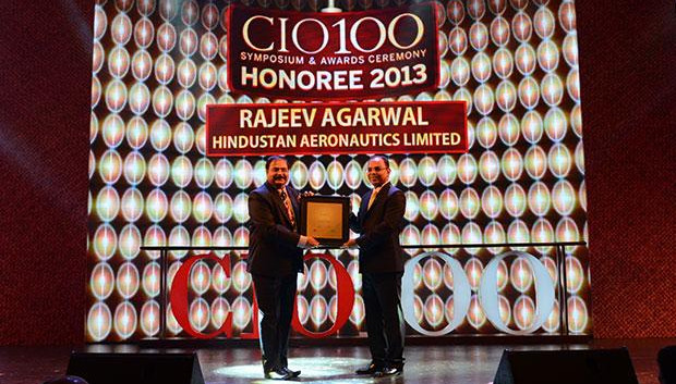 The Astute 100: Rajeev Agarwal, Head-Corp IT of HAL receives the CIO100 Award for 2013