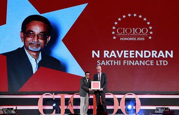 The Versatile 100: Nagarajan Raveendran, GM IT, Sakthi Finance receives the CIO100 Award for 2015