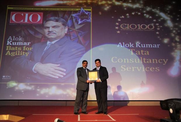 The Creative 100: Alok Kumar, VP & Global Head - Internal IT and Shared Services of Tata Consultancy Services receives the CIO100 Award for 2011