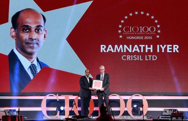 The Versatile 100: Ramnath Iyer, CIO of CRISIL receives the CIO100 Award for 2015