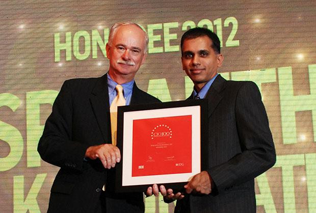 The Resilient 100: Sri Karumbati, CIO of Stumpp Schuele & Somappa Springs receives the CIO100 Award for 2012
