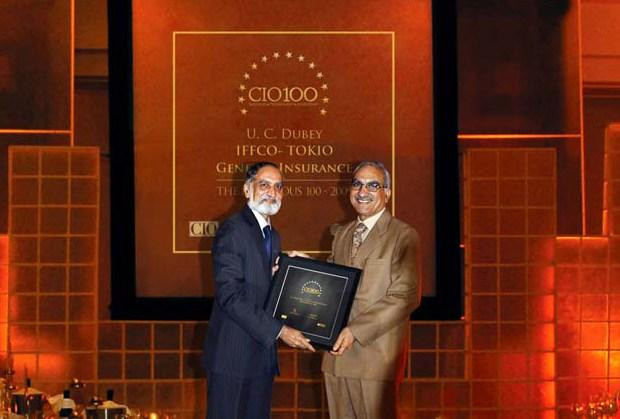 The Ingenious 100: U C Dubey, Executive Director-IT at Iffco Tokio General Insurance Company (IFFCO) receives the CIO100 Award for 2009