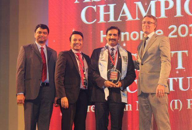 Business Assurance Champion: Basant Kumar Chaturvedi, Controller IT of Perfetti Van Melle India receives the CIO100 Special Award for 2014, constituted in association with Blue Coat