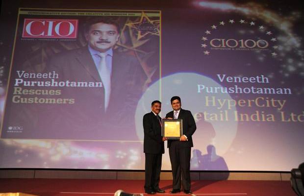 The Creative 100: Veneeth Purushotaman, CIO of Hypercity Retail of company receives the CIO100 Award for 2011