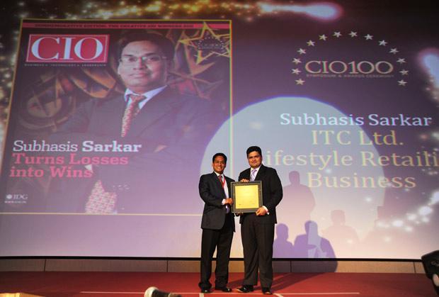 The Creative 100: Subhasis Sarkar, Divisional CIO of ITC Lifestyle Retailing Business receives the CIO100 Award for 2011