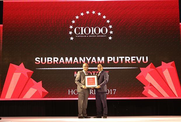 The Digital Innovators: Subramanyam Putrevu, CIO of Mindtree receives the CIO100 Award for 2017