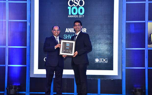 Anil Nair, Sr. Manager IS at SHV Energy receives the CSO100 Award for 2017