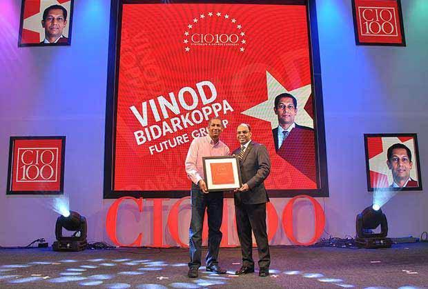 The Transformative 100: Vinod Bidarkoppa, Group CIO and Senior Vice President, Future Group receives the CIO100 Award for 2016.