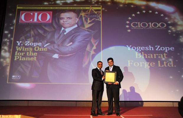 The Creative 100: Yogesh Zope, Group CIO, Bharat Forge receives the CIO100 Award for 2011.