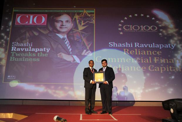 The Creative 100: Shashi Kumar Ravulapaty, Sr. VP & CTO of Reliance Capital receives the CIO100 Award for 2011