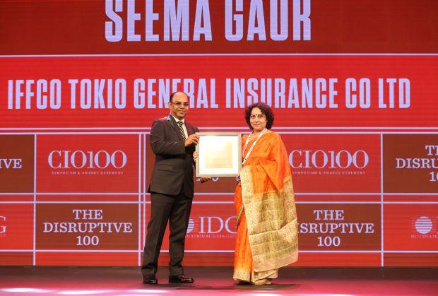 The Disruptive 100: Seema Gaur, Executive Director and Head-IT, IFFCO Tokio General Insurance receives the CIO100 Award for 2019